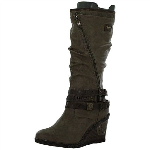 bottes compensées 1083507 femme mustang 1083507