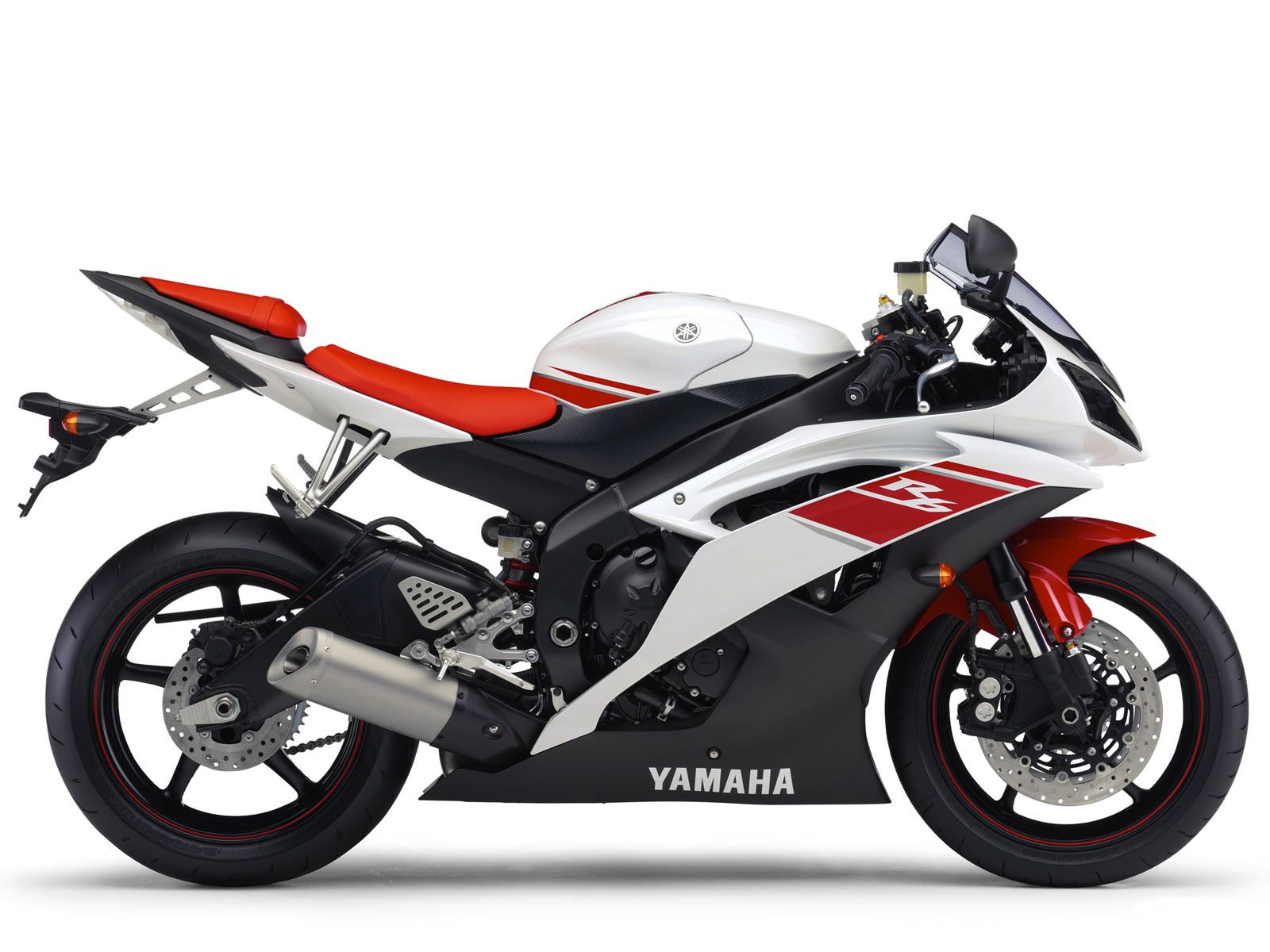 Good YAMAHA YZF R6   2008 Competition White