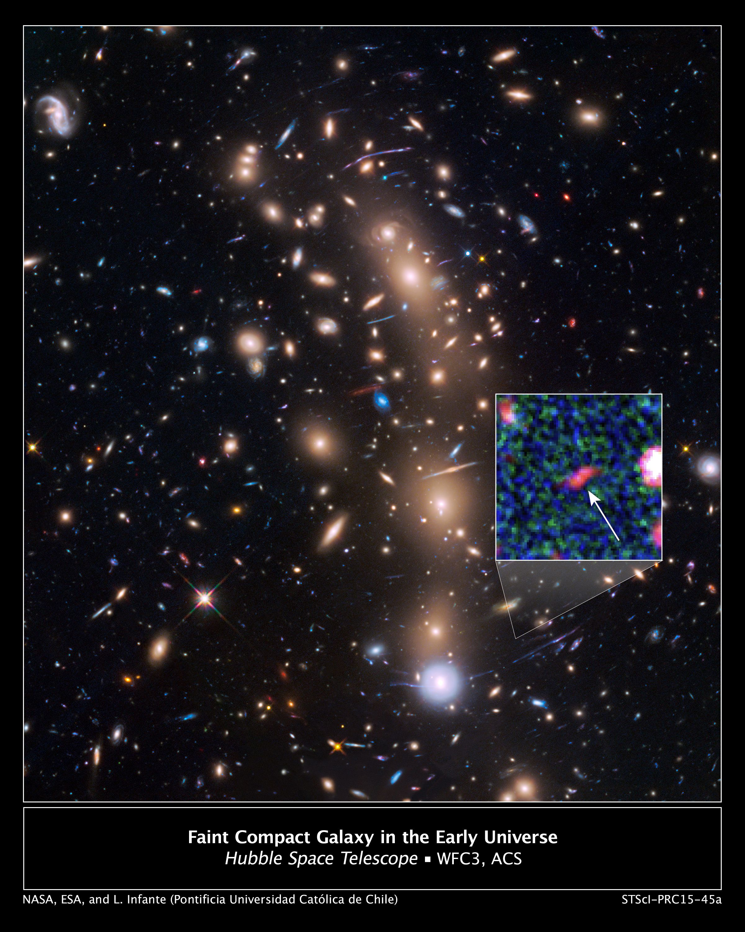 Magnified Image Of The Faintest Galaxy From The Early Universe