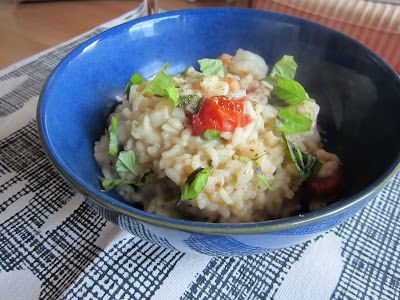 Life on Food: Shrimp and Herb Risotto with Roasted Tomatoes