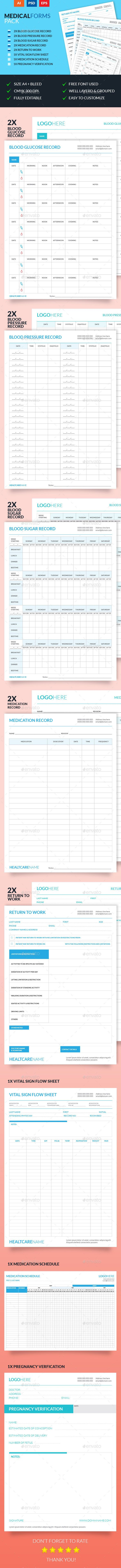 Medical Forms Pack  Medical Psd Templates And Photoshop