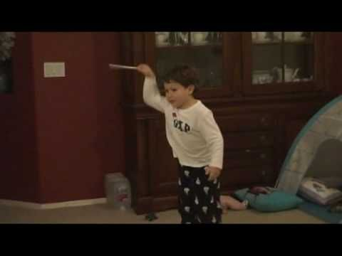 3 Year Old Jonathan Conducting To The 4th Movement Of Beethoven S