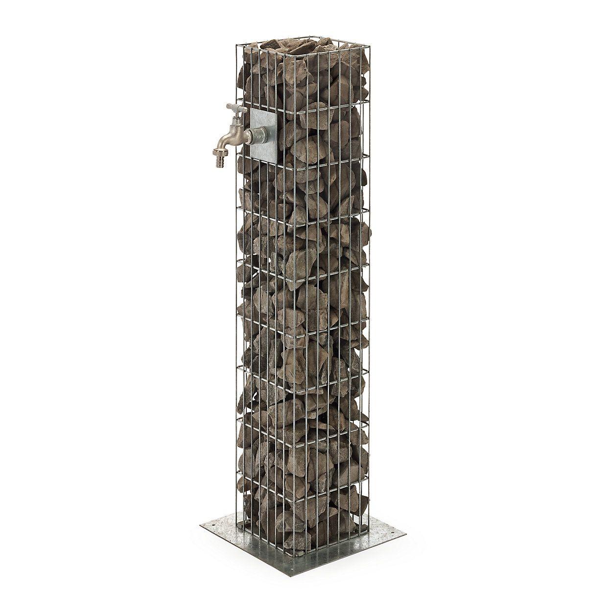 Gabion Water Tap Column Manufactum In 2020 Water Tap Garden Sink Backyard Water Feature