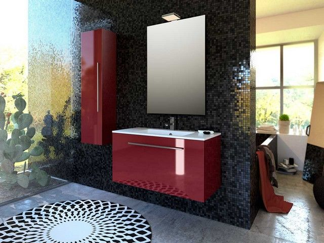 Arredo Bagno Bordeaux : Mobile bagno moderno in legno hamal arredo design online