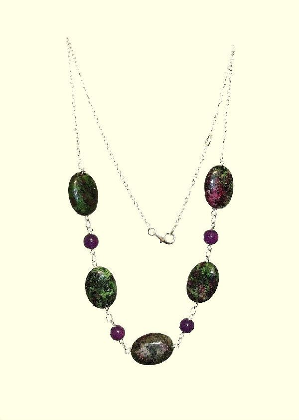 18mm green purple oval ruby zoisite gemstones vintage 925 silver green purple oval ruby zoisite vintage necklace natural stones 925 silver handmade necklace healing chakra protection yoga aries necklace de artgemstones aloadofball Image collections