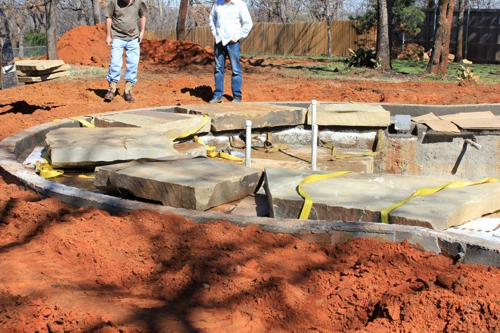 'Stoneledge' Before Pool Stones by One Specialty