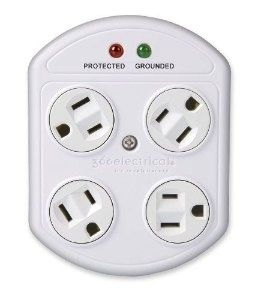Creative Outlets 5 Energy Smart Options Surge Protector Outlet Home Improvement
