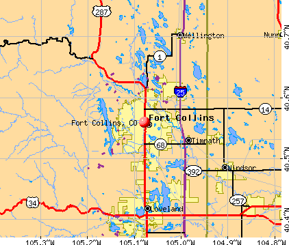 Map Of Fort Collins Colorado Area Fort Collins, CO map | Next | Fort collins, Fort collins colorado, Map