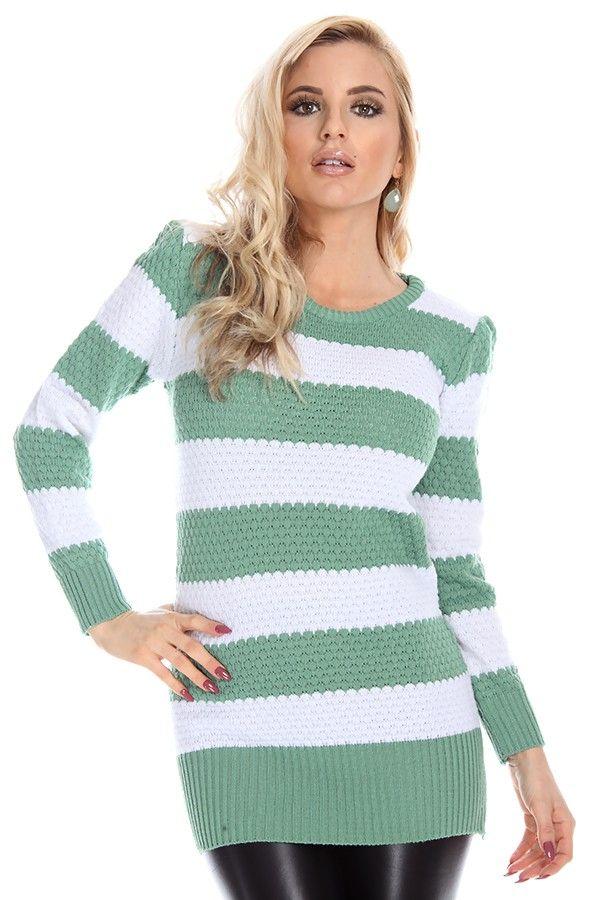 green sweater#green white striped sweaters#striped sweaters ...