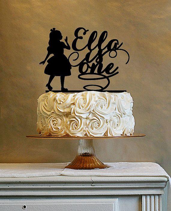 Alice In Wonderland Cake Topper Custom Birthday By Vanblur