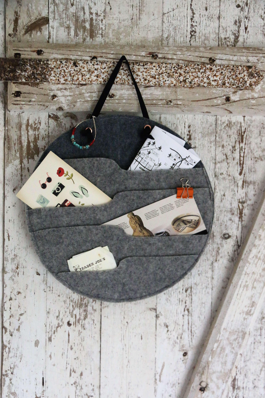 Hygge Stil: Wandtasche aus Filz nähen | Nähen | Wandtaschen