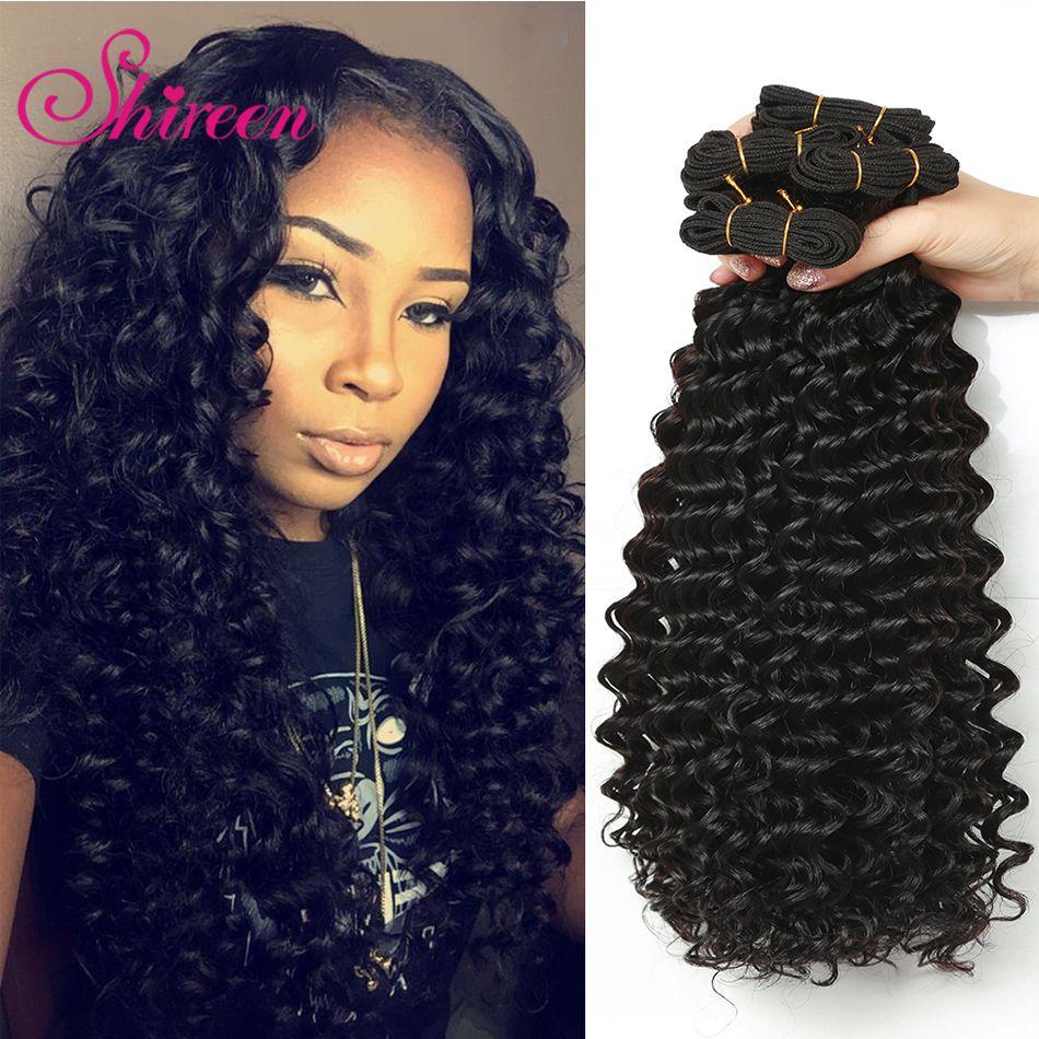 Shireen Brazilian Deep Wave 34bundles Deal Non Remy Human Hair Weft