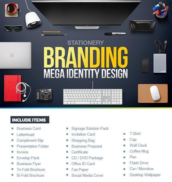 Corporate Branding Identity Design  Mockups