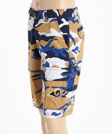 St. Louis Rams Camo Shorts #zulily #zulilyfinds