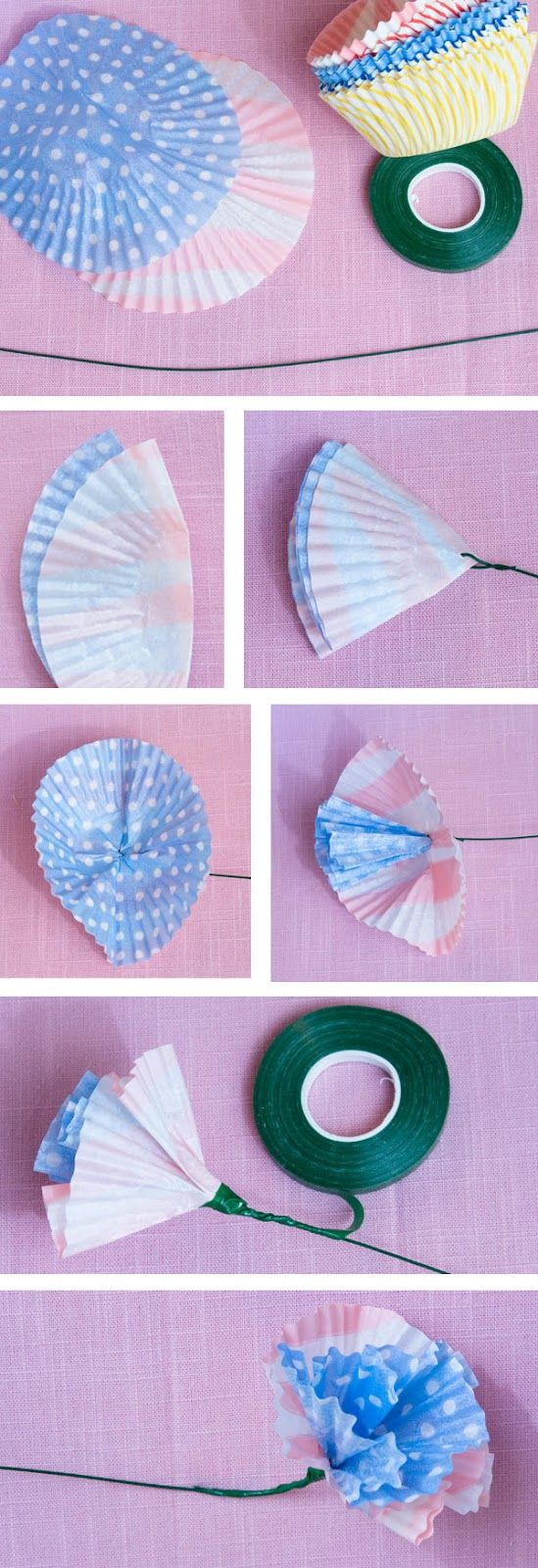 Cute idea with cupcake papers crafting the day away pinterest cute idea with cupcake papers jeuxipadfo Gallery