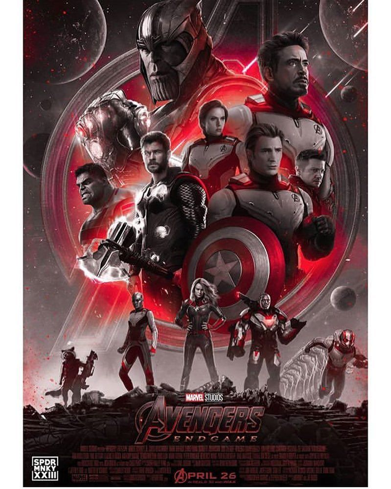 Avengers End Game Marvel Captain America With Mjolnir Comic Poster Canvas Resin