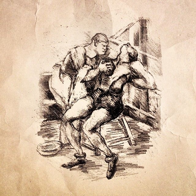 The Pugilist Boxing 1930s Sketches Found Art Art