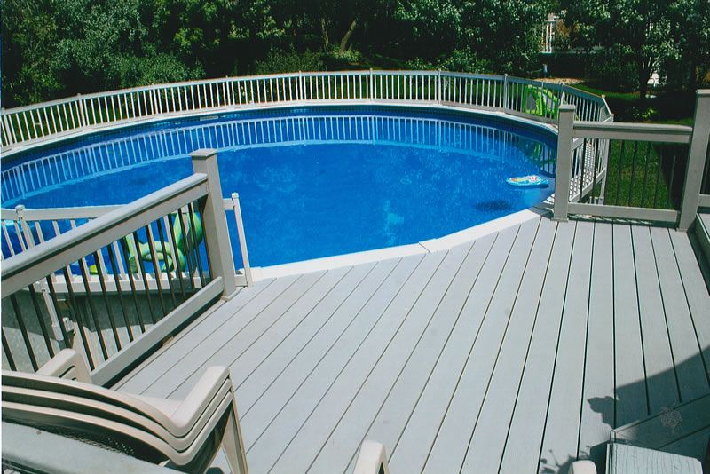 Very cool idea for above ground pool decks pool pinterest ground pools decking and deck - Above ground composite pool deck ...