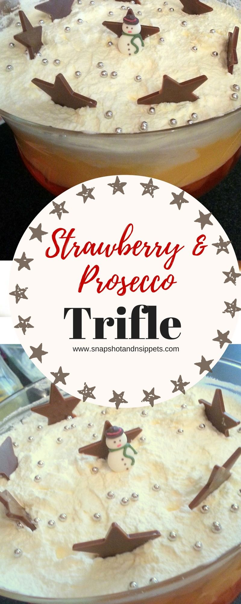 Strawberry and Processo Trifle | Recipe | Chocolate stars, Trifles ...