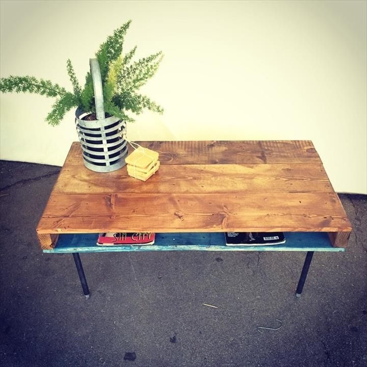 diy pallet iron pipe. Pallet With Metal Pipe Legs - 125 Awesome DIY Furniture Ideas Diy Iron D