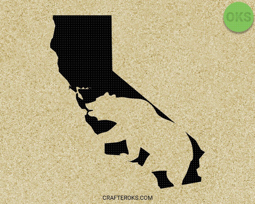 Download FREE for Personal Use California Bear Map SVG file in 2020 ...