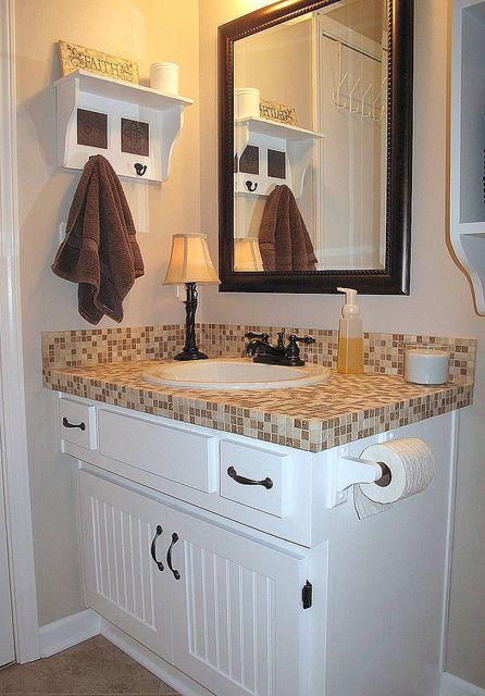 tiled bathroom vanity bathroom