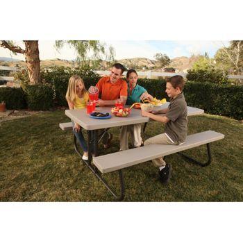 Costco Lifetime 6 Folding Picnic Table Folding Picnic Table