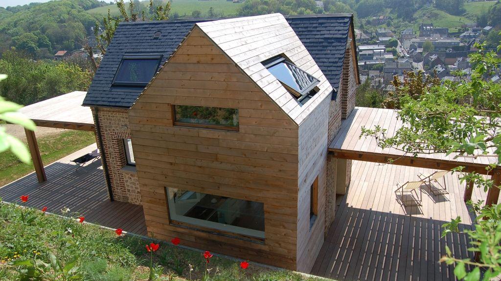 holzanbau an renovierten altbau aus ziegelstein anbau haus altbau und haus bauen. Black Bedroom Furniture Sets. Home Design Ideas