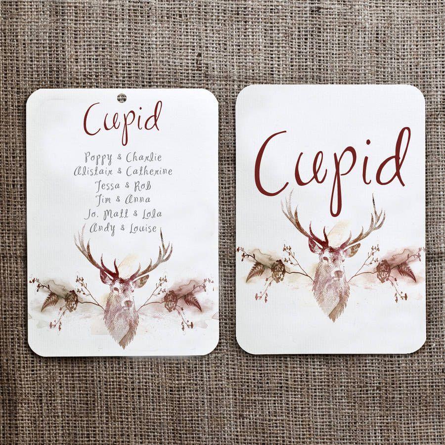 Reindeer Christmas Seating Plan And Table Name Cards  Christmas