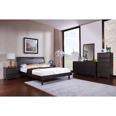 Hokku Designs Boma Queen Platform Customizable Bedroom Set ...