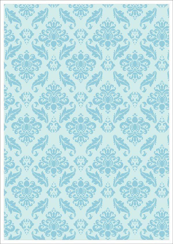 Template Design Website Valentines Day Scrapbook Paper Blue