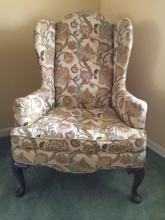 Vintage Ethan Allen Wingback Chair Wingback Chair Chair