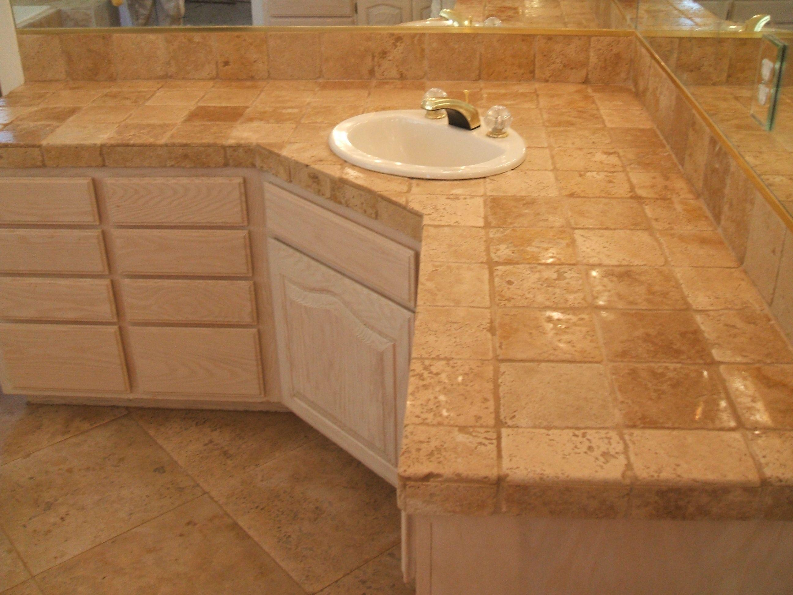 Beautiful Bathroom Countertop Tile Designs Bathroom Various Materials And Shapes For Bathroom Tile Countertops Bathroom Countertops Bathroom Countertops Diy