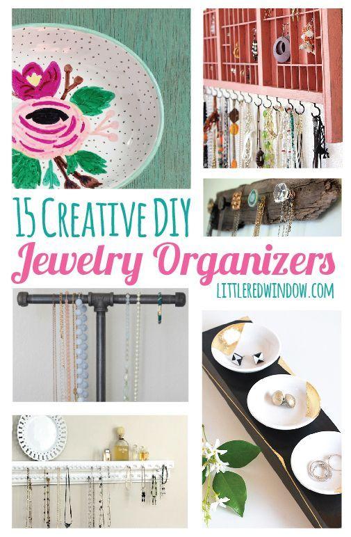 15 Creative DIY Jewelry Organizers Diy jewelry organizer Creative