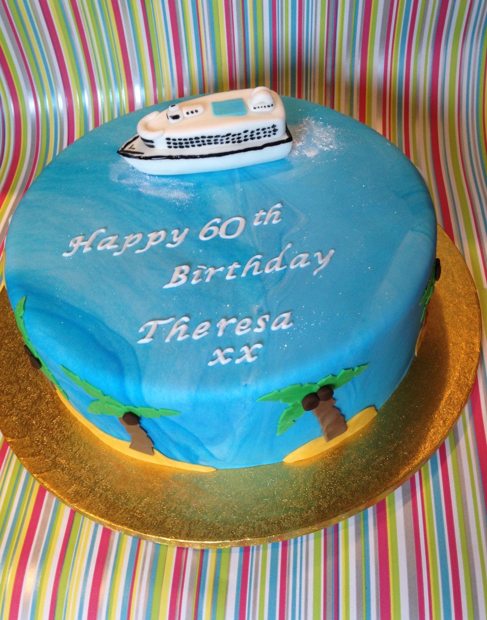 Cruise Ship Birthday Cake Cruise Ship Food Cakes Pinterest