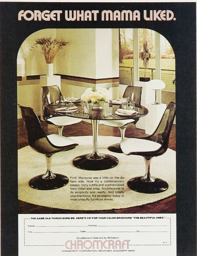 Chromecraft Dinette Set Smoked Lucite  2Nd Floor  Pinterest Alluring Dining Room Sets On Craigslist Inspiration