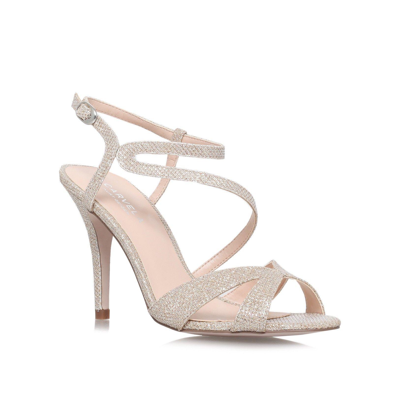 c67384efb10f ladybird gold mid heel sandals from Carvela Kurt Geiger