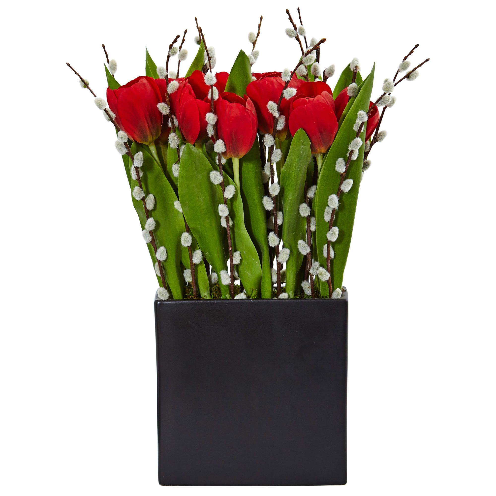 tulips flowerman arranged polka tailored florist with finished pink dot delivery the flower a by hot pasadena file inc vase in red