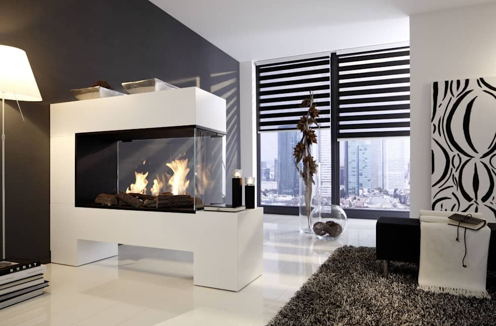 Aspect splan-13-be \u2013 ethanolkamin moderne wohnzimmer von kamin