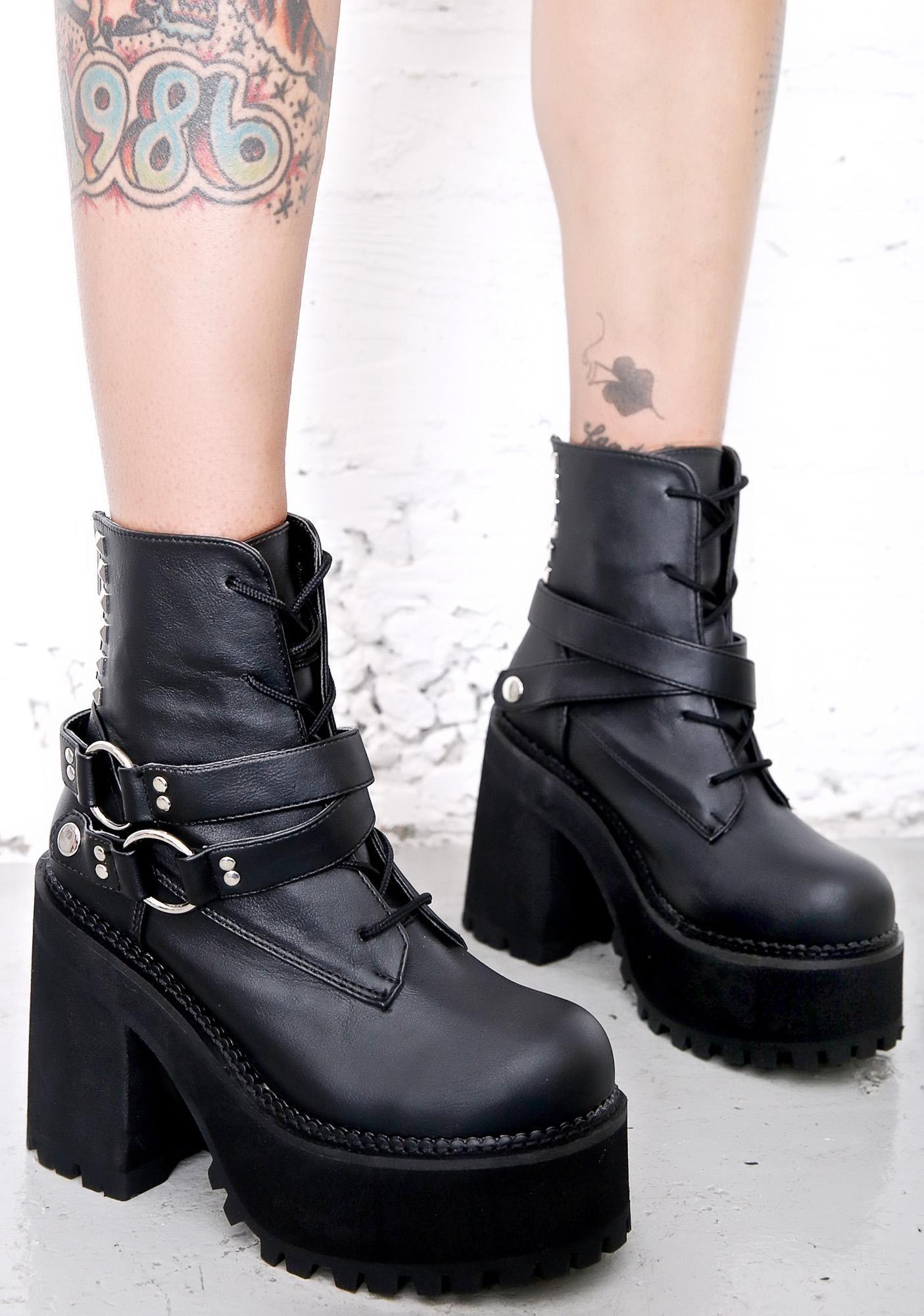 ed554da80dd1 Demonia Reign Of Terror Platform Boots cuz yer absolutely ruthless
