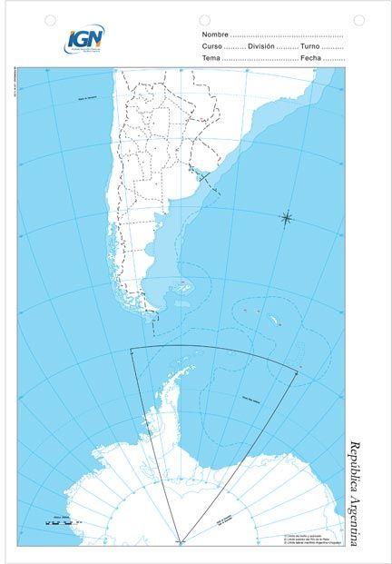 Mapa Escolar Republica Argentina Bicontinental Mapa Escolar