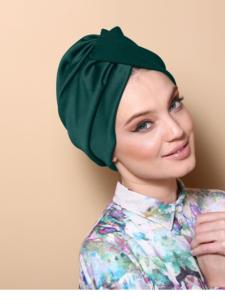 Glitter Pleated Twist Turban Rona Hand Made Turbans