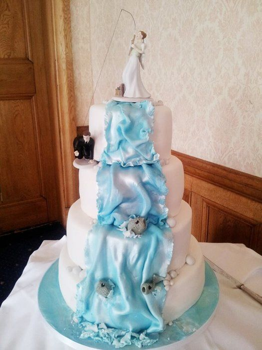 fishing wedding cake images fishing inspired wedding cake wedding cakes 14289