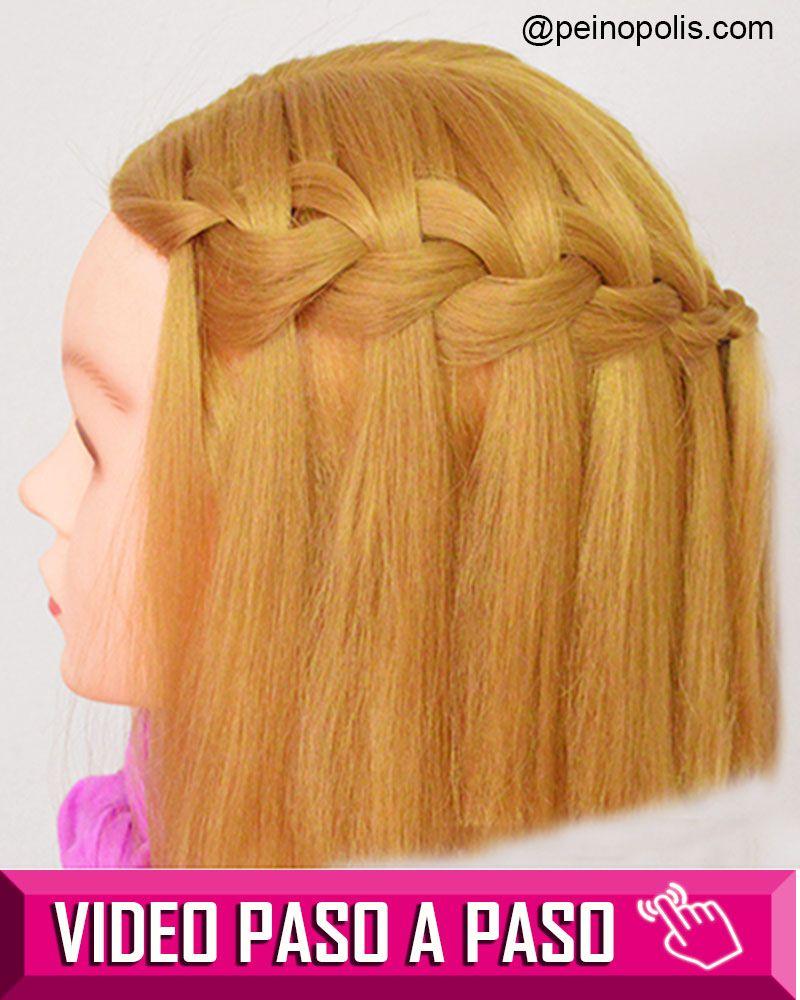 Trenzas Cascada Para Cabello Corto Peinados Faciles Peinados Hair Styles