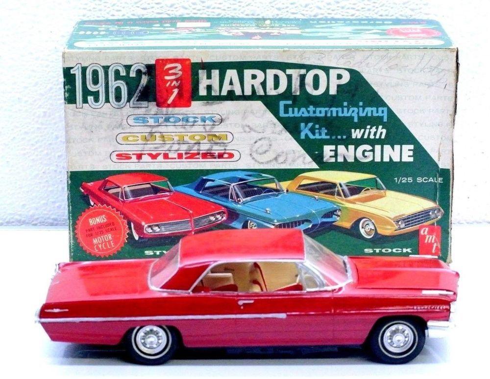 Amt Pro Built Painted Red 62 Pontiac Bonneville Plastic Model