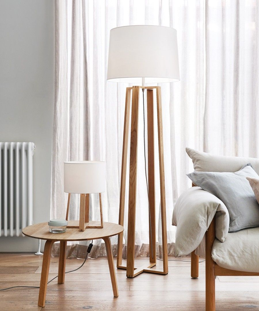 Copenhagen Small Table Lamp in Teak in 2019 Wooden floor