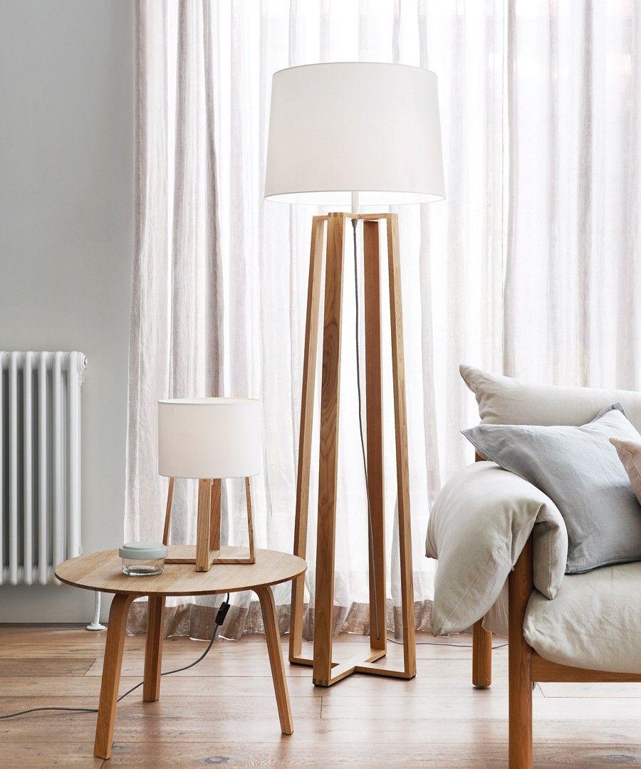 Copenhagen Small Table Lamp in Teak in 2019 Wooden floor