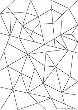 Mosaic Coloring Book Mosaik Mosaik Muster Mandala Ausmalen