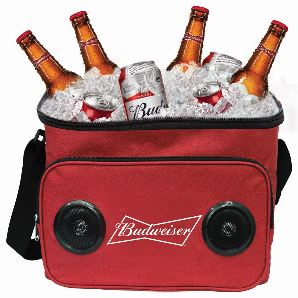 Gabba Goods Budweiser Soft Cooler Bag With Speakers At The Paper Store Cool Bluetooth Speakers Soft Cooler Soft Cooler Bag