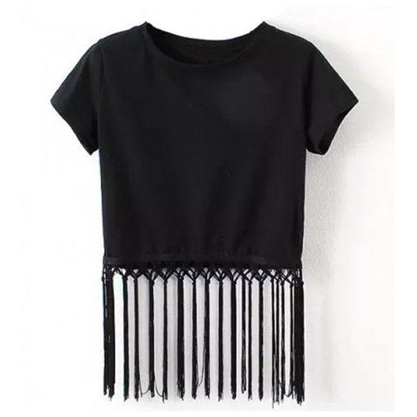 Crop Top With Strip Fringe   Crop tops, Crop top outfits, Tops
